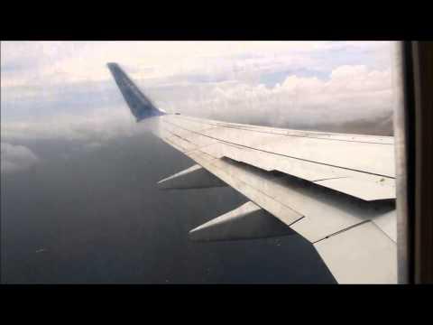 Landing Boavista Cabo Verde Boeing  737-800 TACV