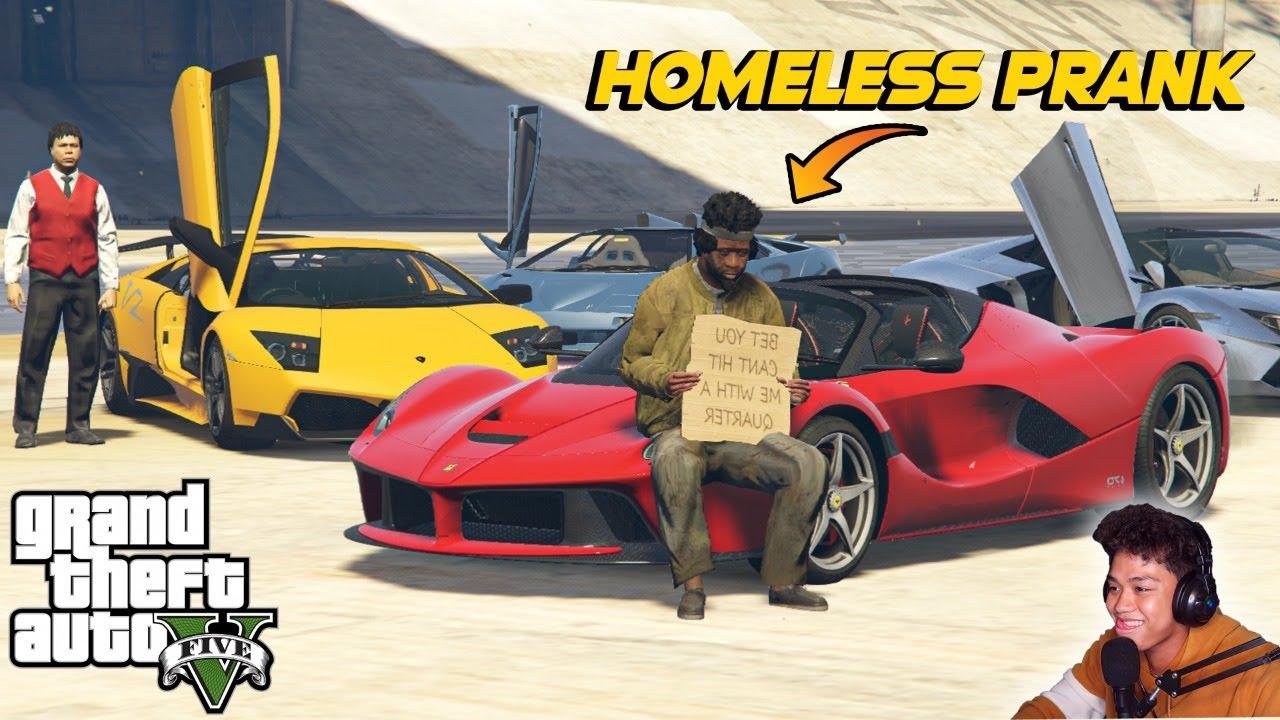 Homeless Billionaire PRANK sa GTA 5!! (social experiment) | Billionaire City RP