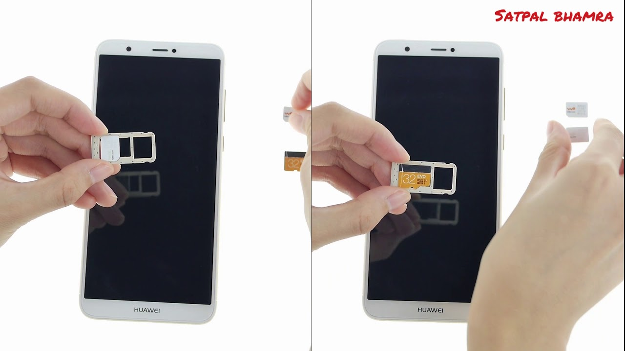 Huawei P Smart How To Insert Sim And Sd Card In Huawei P Smart