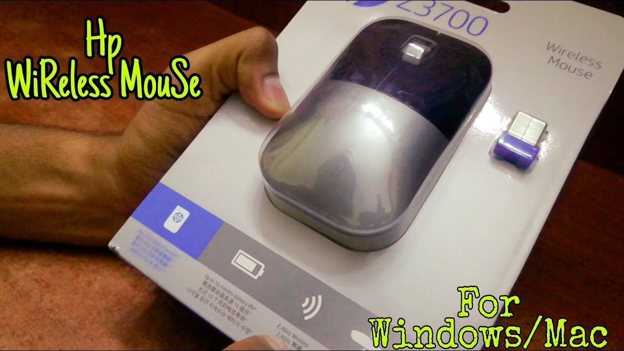 4818bd62673 HP Z3700 Wireless Comfort Mouse Unboxing & First Look - YouTube