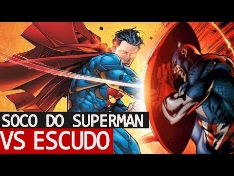 E SE SUPERMAN DESSE UM SOCO NO ESCUDO DO CAPITÃO AMÉRICA