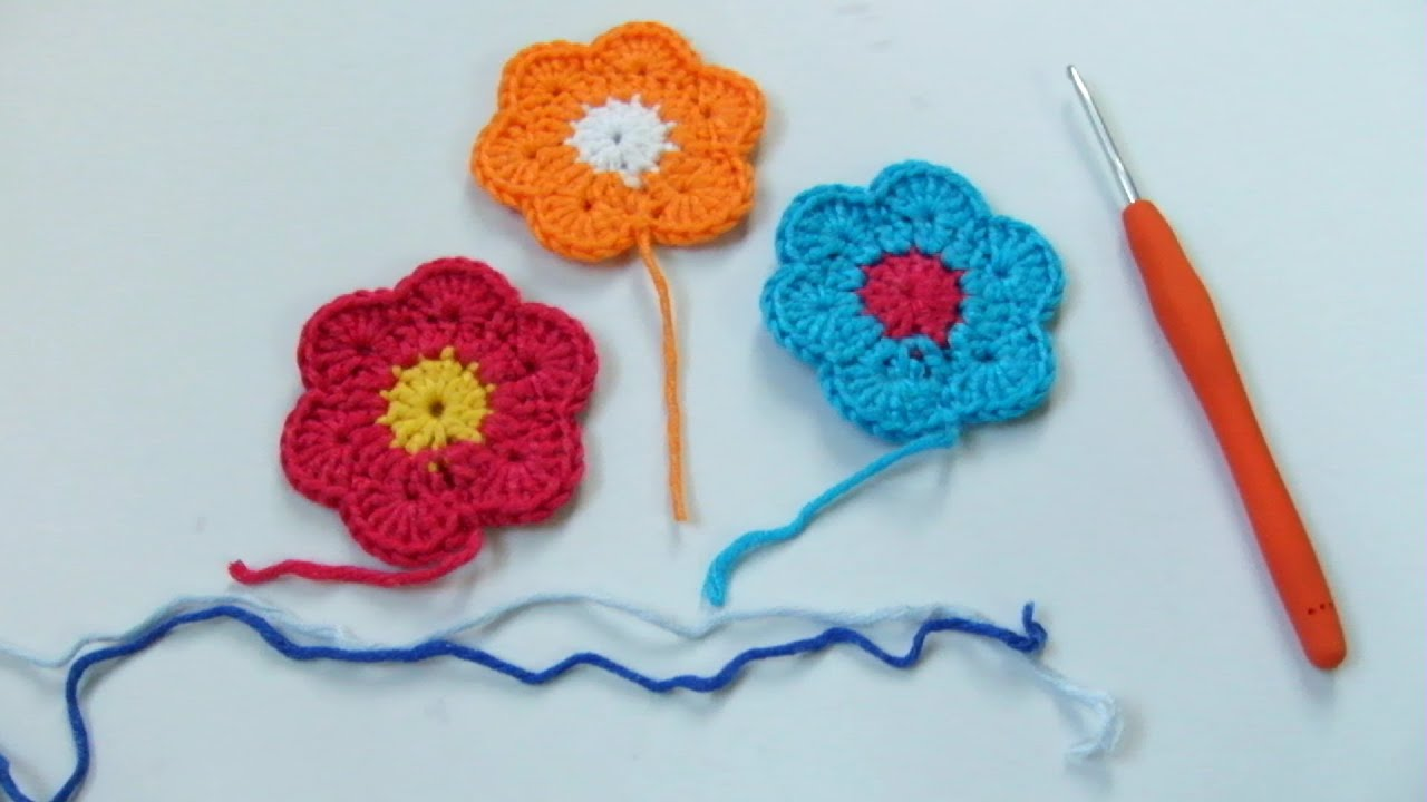 How To Crochet For Beginner Crochet Flower Step By Step
