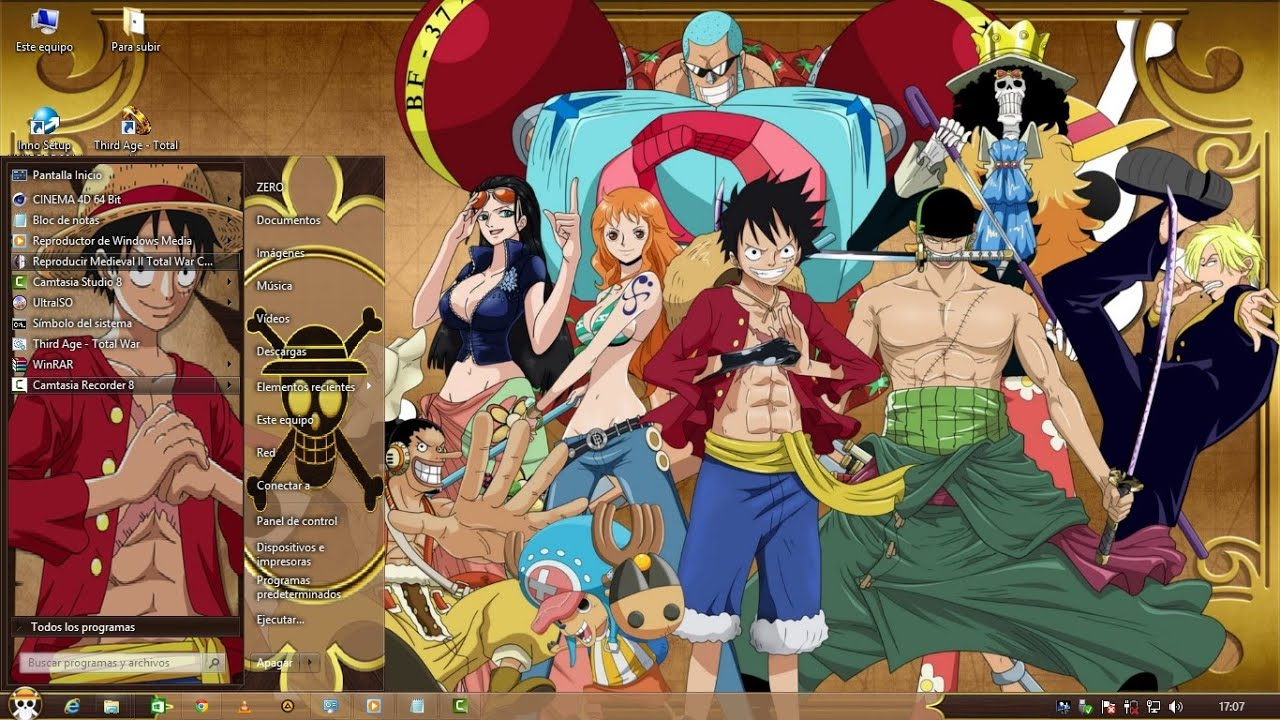 Tema One Piece Para Windwos 8 Y 8 1