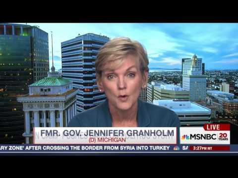 Jennifer Granholm has testy interview with MSNBC about Clinton