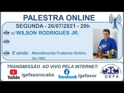 Assista: Palestra online - c/ WILSON RODRIGUES JR (26/07/2021)