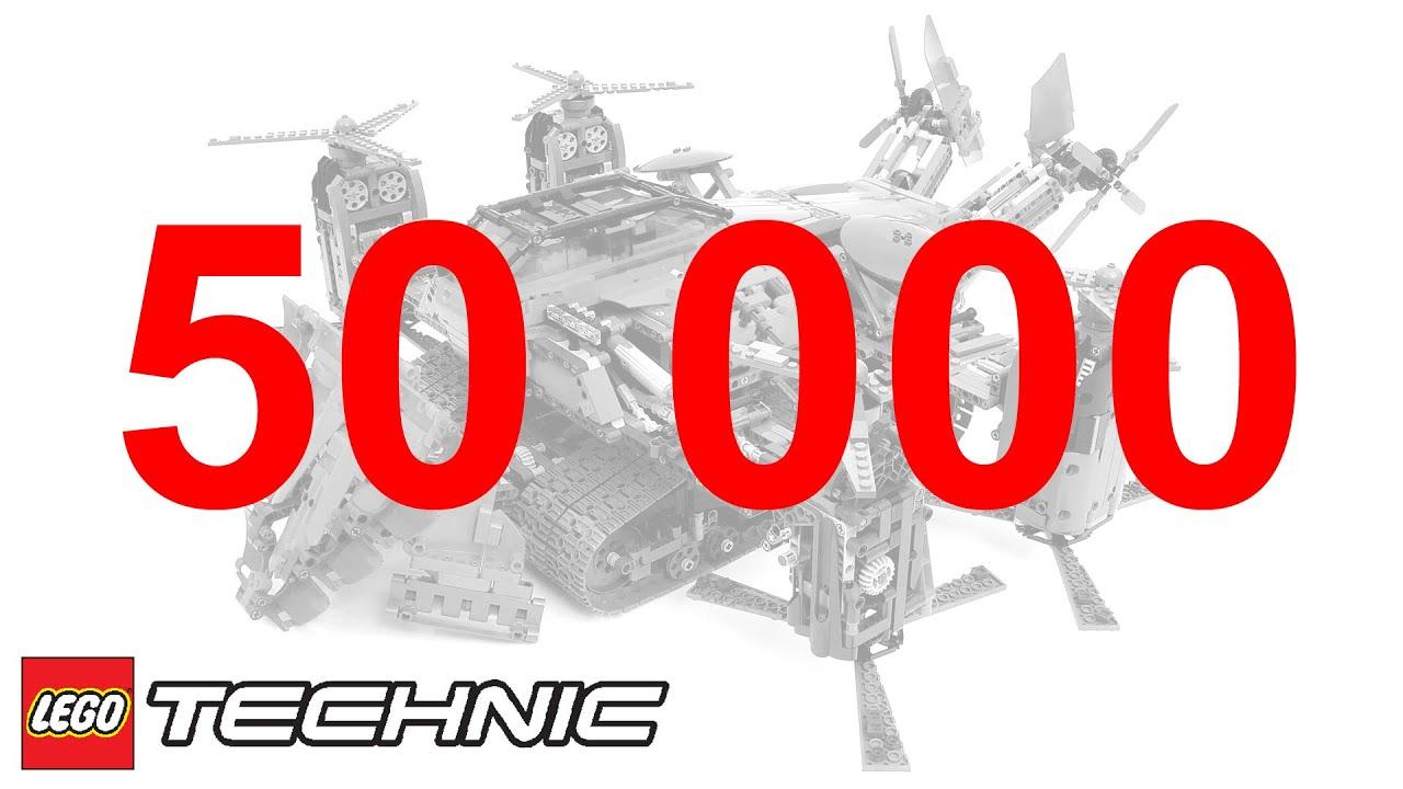 50 000 ЛЕГО Техник Подписчиков! Celebrating the 50000th LEGO Technic subscriber