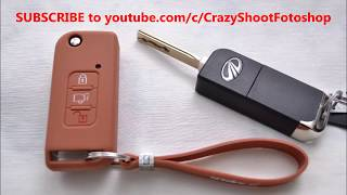 Mahindra XUV 500 flip key Silicone Key Cover accessories for W4 W6 W8 Variants from KeyZone.in