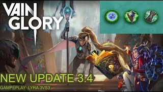 New Update 3.4 !!! Vainglory [Indonesia] Gameplay 3vs3 | Lyra Crystal Power Build