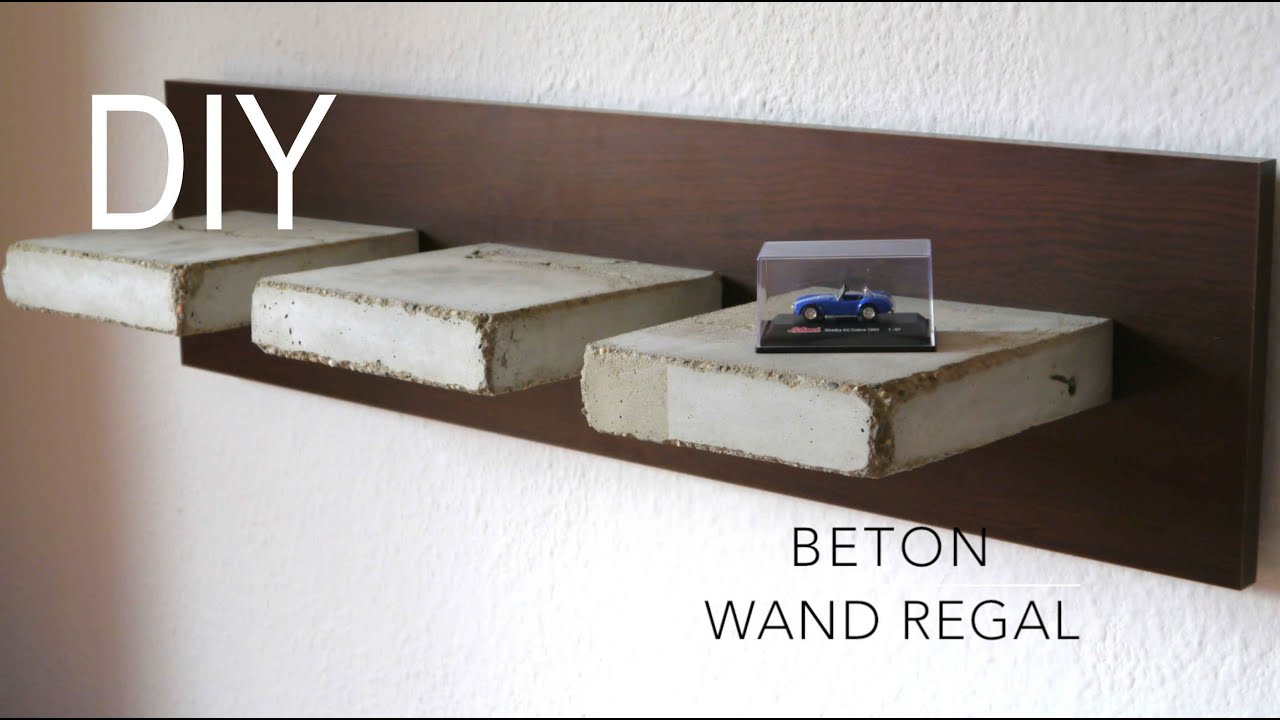 diy beton wand regal bauen anleitung youtube. Black Bedroom Furniture Sets. Home Design Ideas