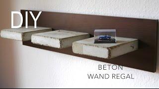 DIY Beton Wand  Regal  bauen Anleitung