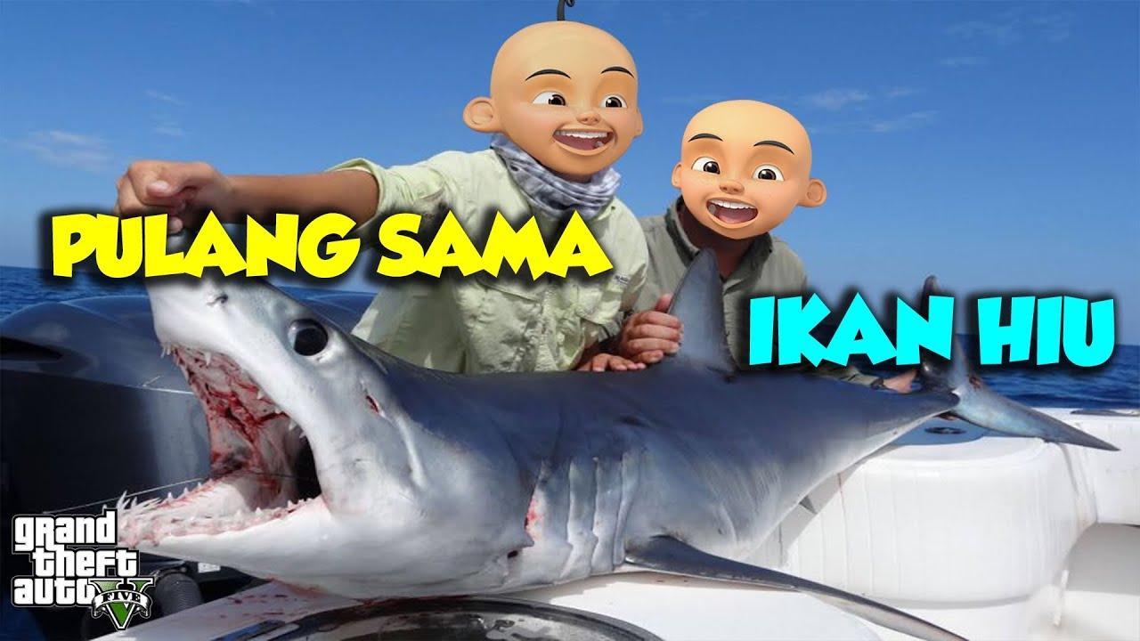 Sultan Upin Ipin pulang sama Ikan Hiu RAKSASA - GTA V Upin ...