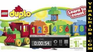 Lego Duplo My First  Number Tain Building Set 10558 - Toys Review