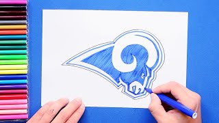 How to draw and color the LA Rams logo - NFL Team Series