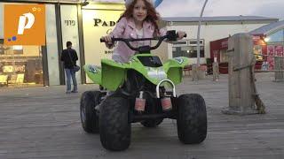 VLOG Набережная Тель авива, Израиль.Патрисия  катается на джипе квадрацикле טיילת תל אביב