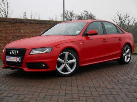 2010 Audi A4 S Line 2 0tdi 170 Saloon Red For Sale In