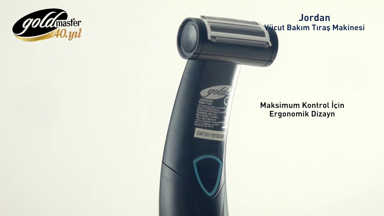 GOLDMASTER GM-7161 Jordan Vücut Bakım Tıraş Makinesi Tıraş Makinesi ve  Aksesuarları