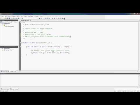 Java - Adding Comments
