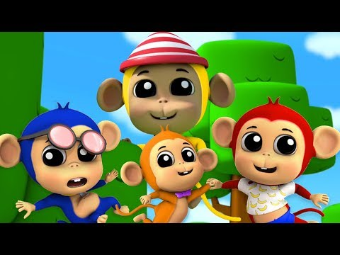Пять Маленьких Обезьян   Обезьянки Мультфильм   Детские Песни   Five Little Monkeys   Farmees Russia