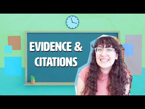 How To Write An Essay: Evidence And Citation