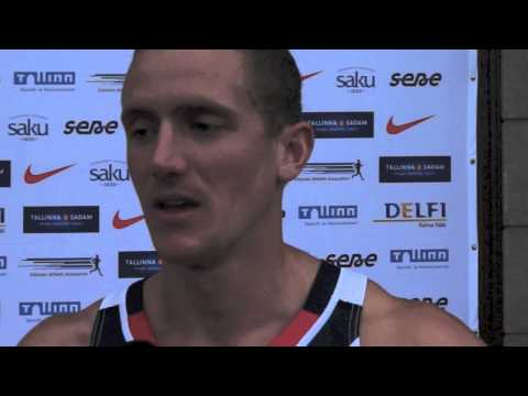 John Lane (GBR) after the first day at EC Combined Events Super League, Tallinn 2013