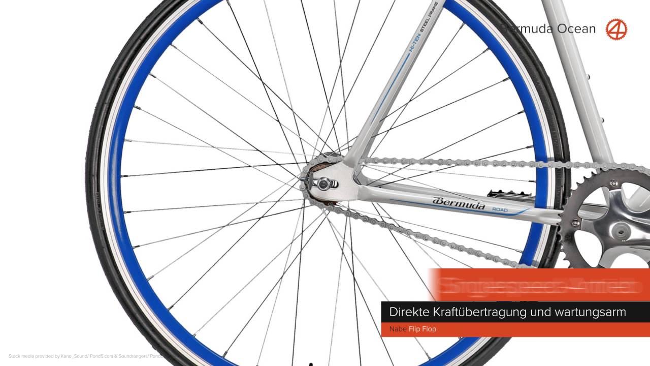 huge discount 9fa02 2ee67 Bermuda Ocean 28'' Fixie Singlespeed Fahrrad Fixed Gear Rahmenhöhe 56 cm
