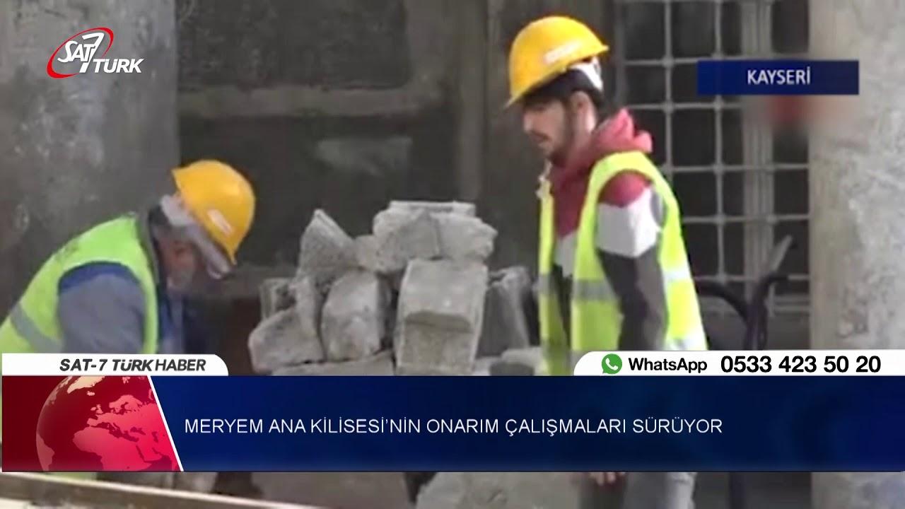 Kayseri'deki Meryem Ana Kilisesi'nin Onarım Çalışmaları Sürüyor   02.11.2018