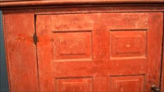 Antique Red Cupboard