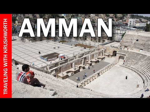 Tour Amman (capital city) Jordan travel video guide; Jordan tourism attractions