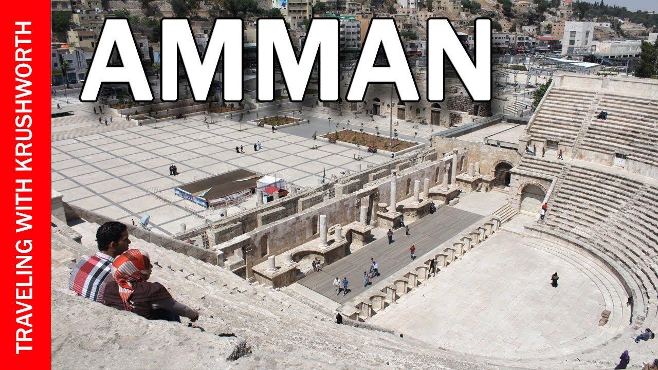 Tour Amman (capital city) Jordan travel video guide; Jordan tourism attractions