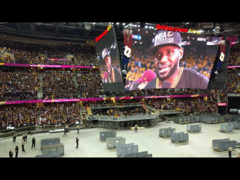 Cleveland Cavaliers are champions inside quicken loans arena!!