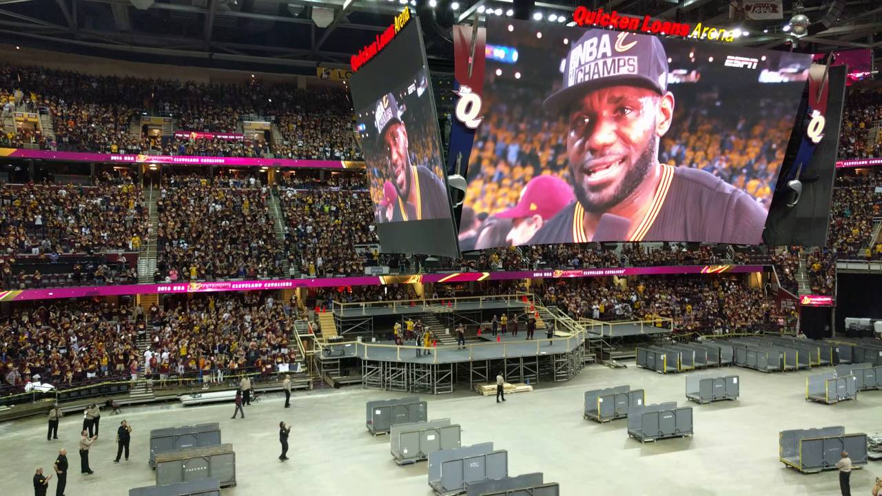 Cleveland Cavaliers are champions inside quicken loans arena!! - YouTube