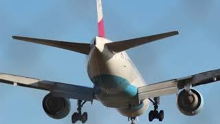 Crosswind Landing at Vienna Airport - Flughafen Wien Seitenwind
