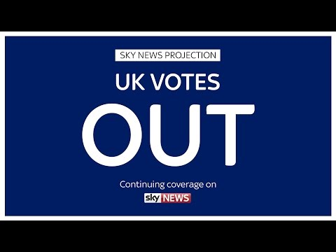 Sky News Projects UK Votes To Leave European Union