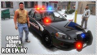 GTA 5 Roleplay - Greasy Guy Steals Cop Car & Crashes my Ferrari Enzo | RedlineRP #218