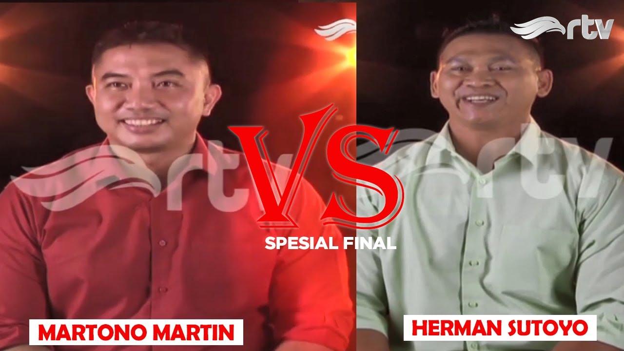 Herman Popeye Sutoyo melawan Martono Martin. Siapakah Juara nya?
