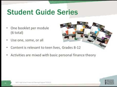 NEFE High School Financial Planning Program Webinar