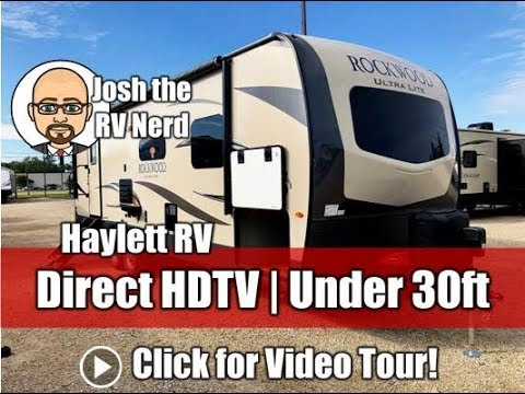 UPDATED 2019 Rockwood 2606WS Ultralite Half Ton Under 30ft Direct Facing HDTV Travel Trailer