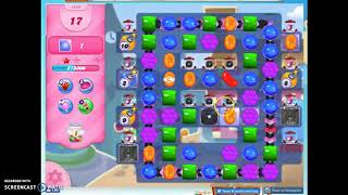 Candy Crush Level 1458 Audio Talkthrough, 2 Stars 0 Boosters