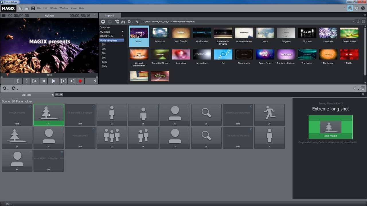 MAGIX Movie Edit Pro 2016 – Movie templates tutorial (INT) - YouTube
