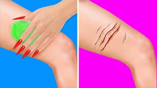 LONG NAILS SITUATIONS || GIRLY LIFE HACKS AND TRICKS FOR ANY OCCASION
