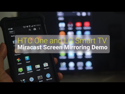 HTC One and LG Smart TV Miracast Screen Mirroring Demo