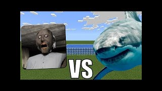 [Entertain Channel] WHITE SHARK vs GRANNY HORROR in Minecraft PE