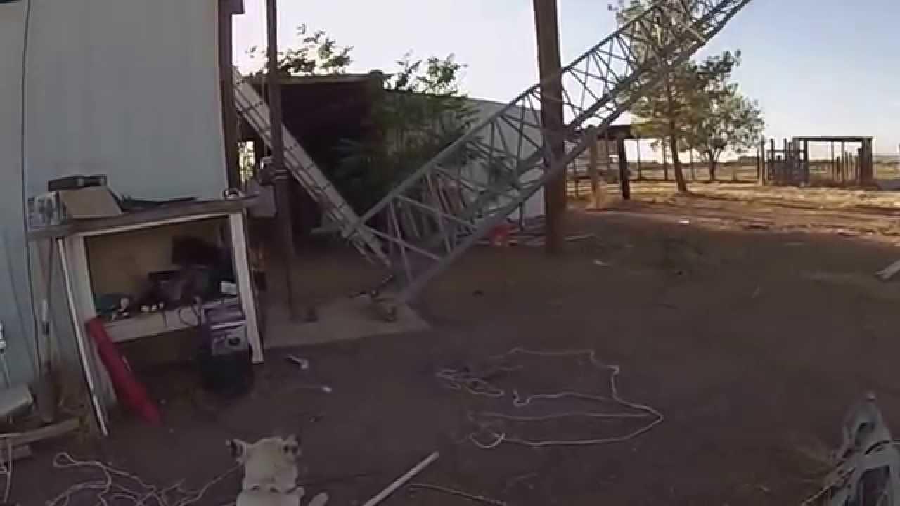 Rohn 48 Tower Lowering - YouTube