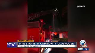 Fire engulfs clubhouse in Delray Beach