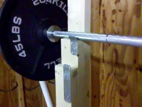 Homemade squat stands youtube for How to make a homemade squat rack