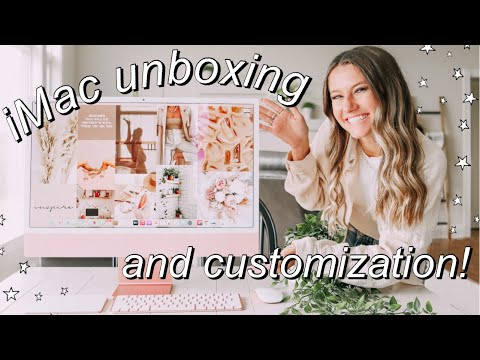 """Pink M1 iMac Unboxing! 