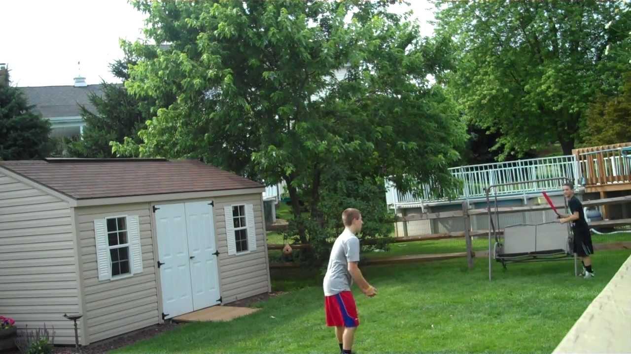 amazing baseball game in the backyard youtube