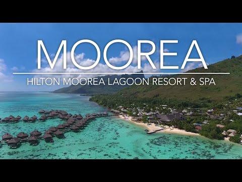Flying my drone above the Hilton Moorea Lagoon Resort! (Tahiti)  Hilton