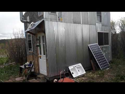 8x16 cabin corrugated metal siding