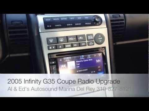 2005 Infinity G35 G45 Alpine Electronics IVE-W535HD Media Radio 2-Din Al & Ed